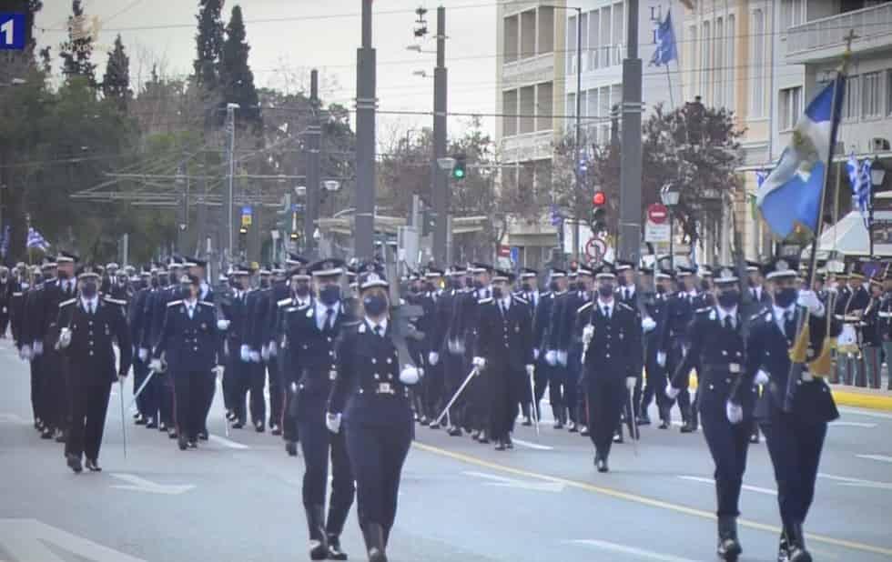 Εορτή της 25ης Μαρτίου 2021 - Παρέλαση τμημάτων των Ε.Δ. και Σ.Α.