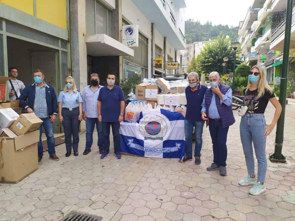 Ο Σύνδεσμος Αποστράτων Αστυνομικών Λάρισας & η Ι.Ρ.Α. Λάρισας βοήθησαν τους Πλημμυροπαθείς Φαρσάλων